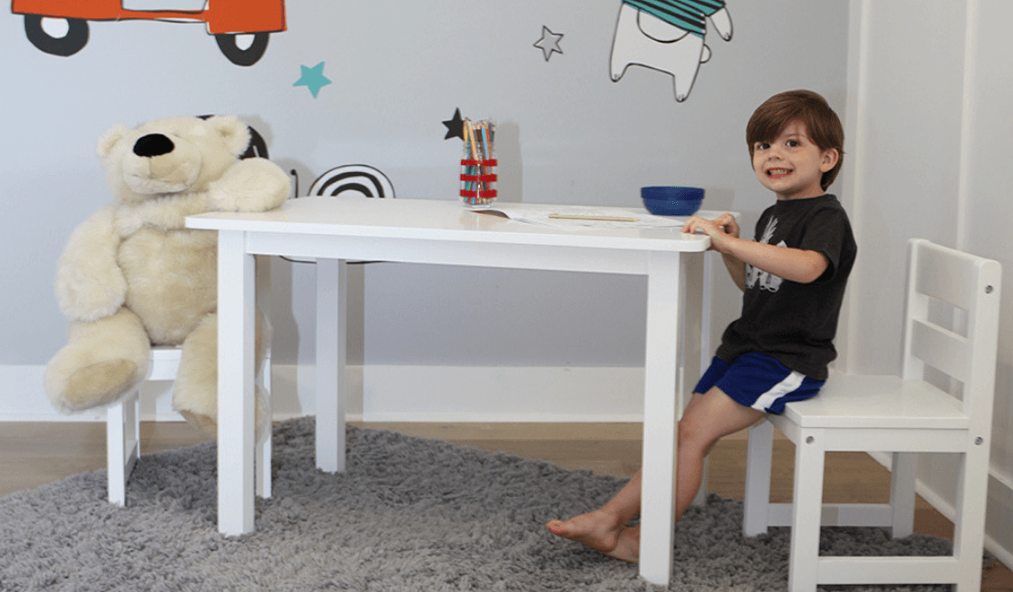 Kids Play Table and Chairs for Young Children