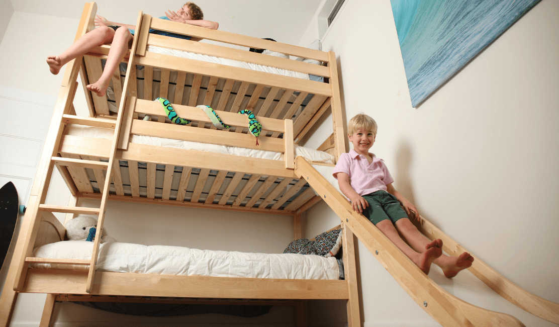 kids slide bed safety