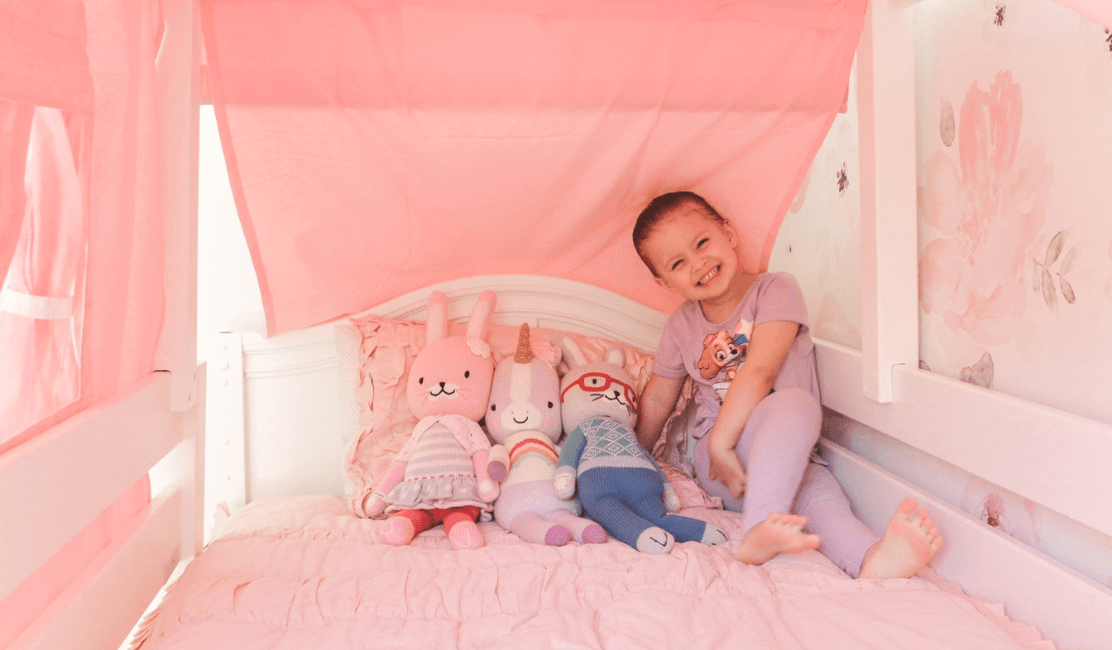MyMaxtrix Room Reveal: Taylor Thoits & Holly's Toddler Bed for Girls