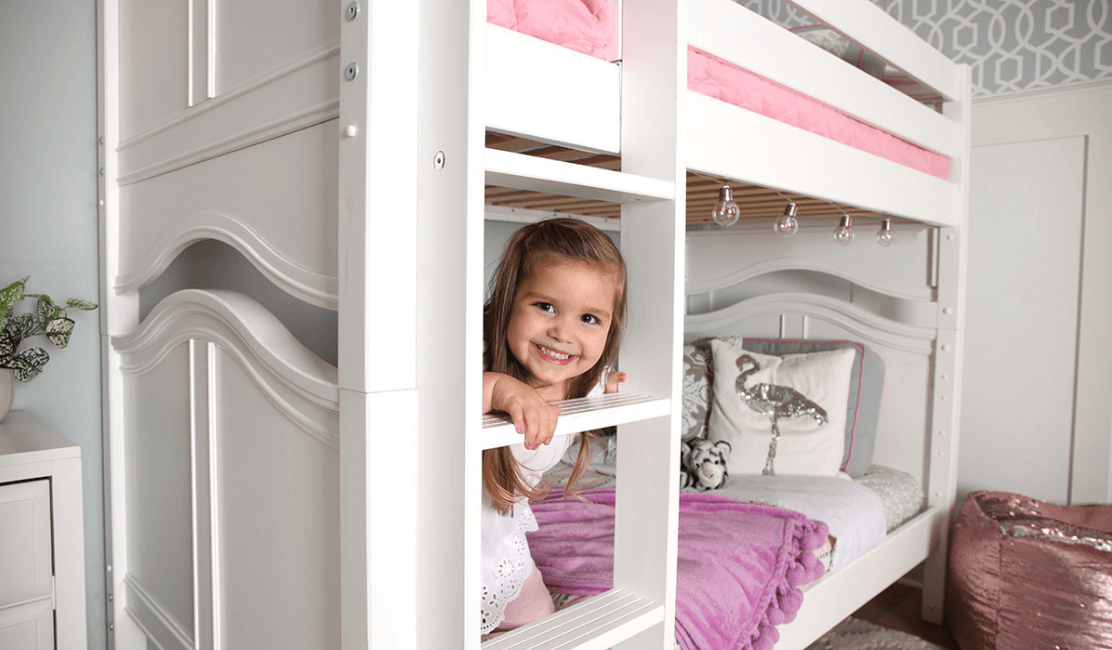 The Perfect Twin Over Twin White Bunk Beds.... Get It.