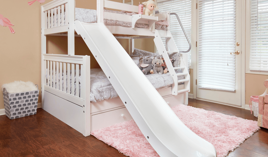 Picture of: Twin Over Full Bunk Beds With Slides The Hot Look For Winter Maxtrix Kids