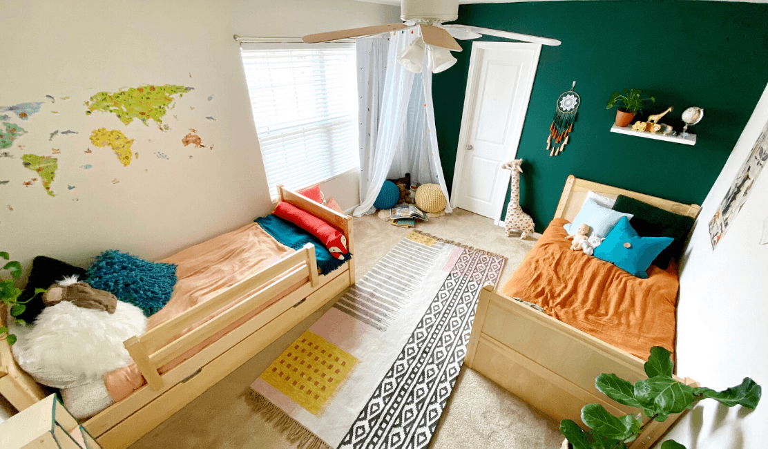 Room Reveal: Boy and Girl Shared Kids Room with Gender Neutral Decor