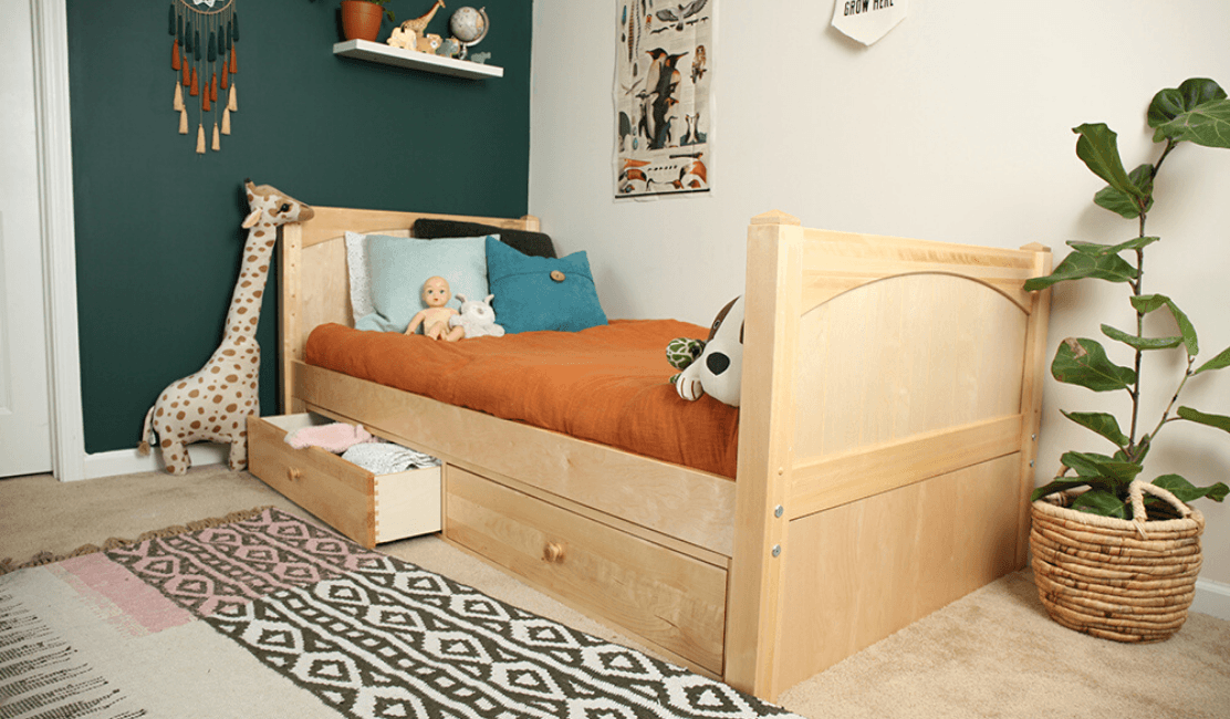 Best Underbed Options for Kids Beds: Underbed Storage Drawers & Trundles