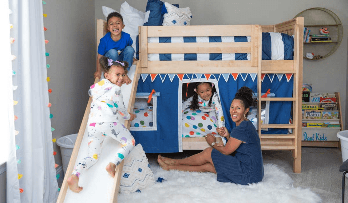 Boy/Girl Twins Room Refresh Starring Bunk Beds with Slide