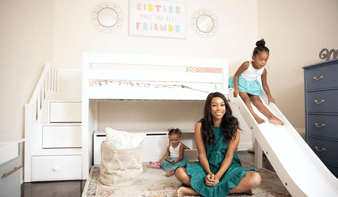 Brittney Reveals Toddler Room Starring Loft Bed with Slide and Stairs