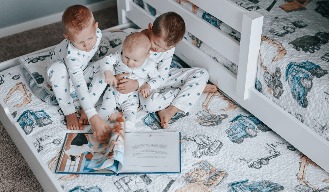 Mama of Three Loves Bunk Beds with Stairs for Growing Boys