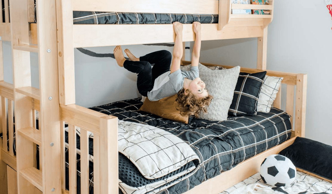 Room Reveal: Triple Bunk Transforms to Twin over Full Bunk Bed