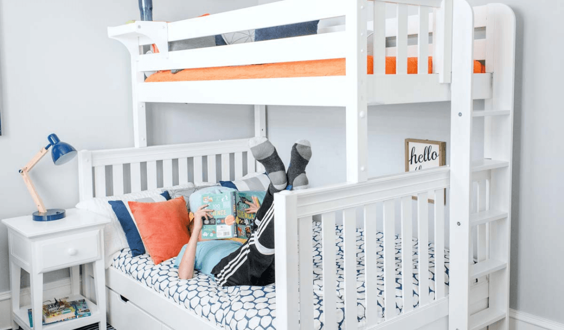 Top Kids Twin Over Full Bunk Beds L Shaped Beds Maxtrix Kids