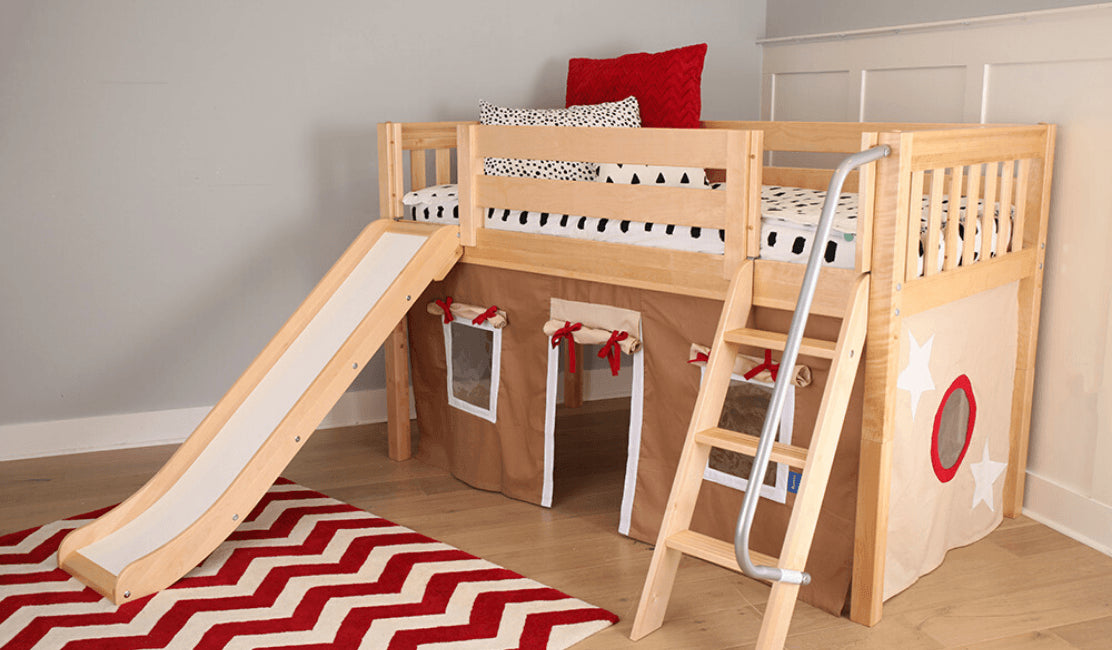 Versatile Low Lofts for Small Rooms and Growing Kids