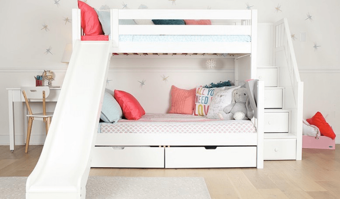White Bunk Beds for Kids - Winter White Looks Maxtrix Kids