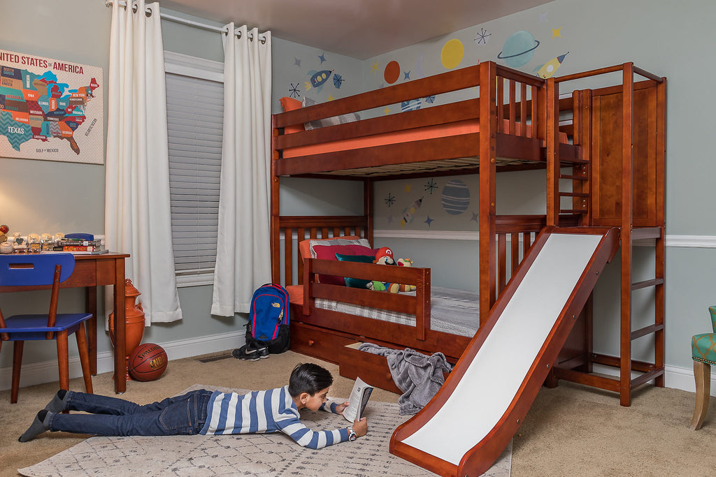 best bunk bed with slide platform for kids