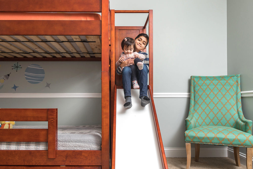 safe high bunk beds with slides