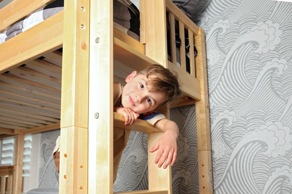 rock lock system for sturdy bunk beds