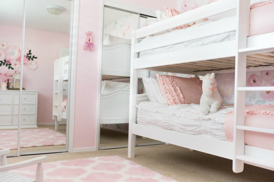 Room Reveal Twin Low Bunk Bed with Curved Panels