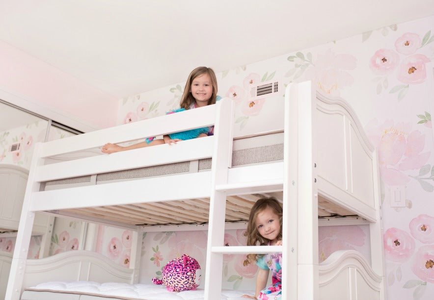 Ashley Lyn Girls on Sturdy White Bunk Bed for Girls