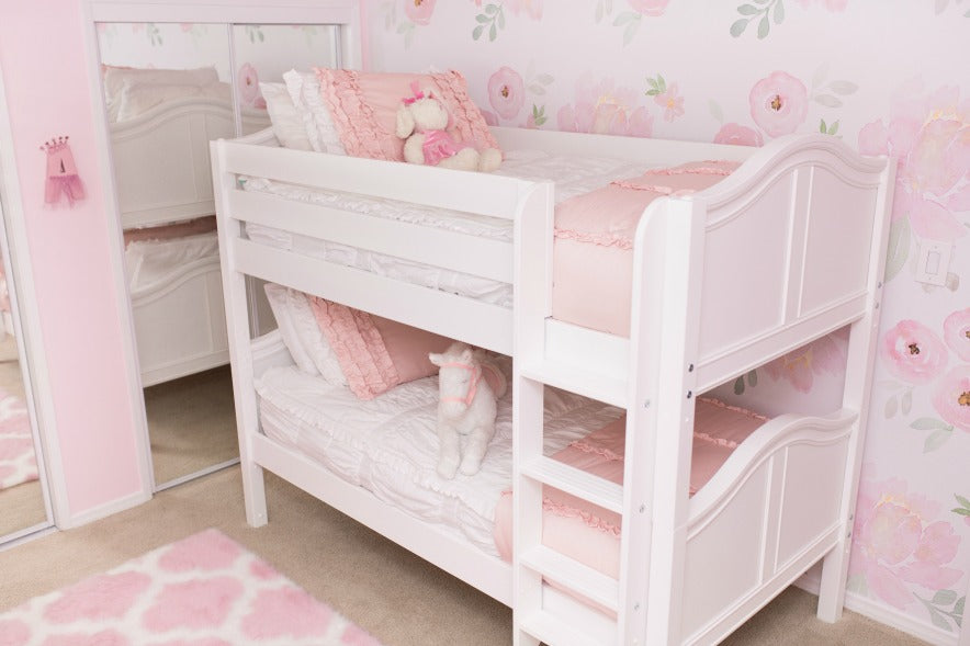 HotShot Low Bunk Bed with Curved Panels for Girls Room
