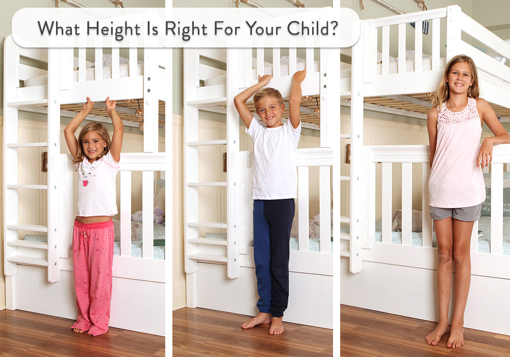 bunk bed height guide