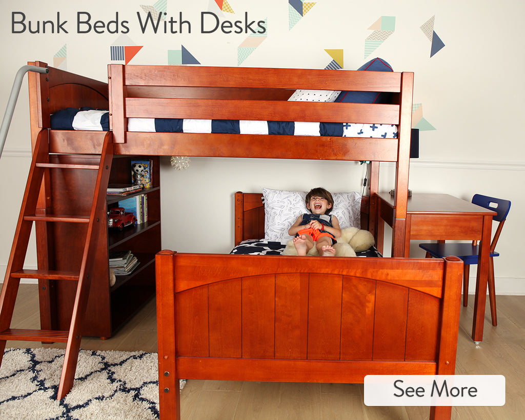 Image of: Kids Bunk Beds With Desks Perfect Solutions For Boys Girls Maxtrix Kids