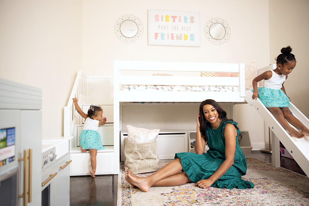 Brittney Fusilier and girls room reveal