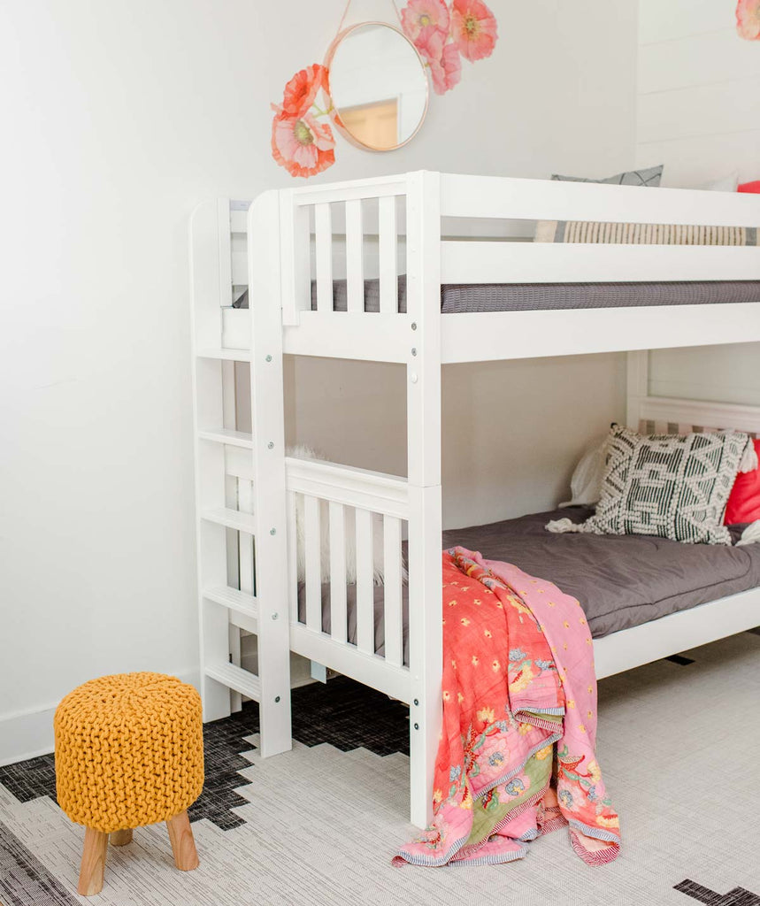 twin size bunk bed ladder on end