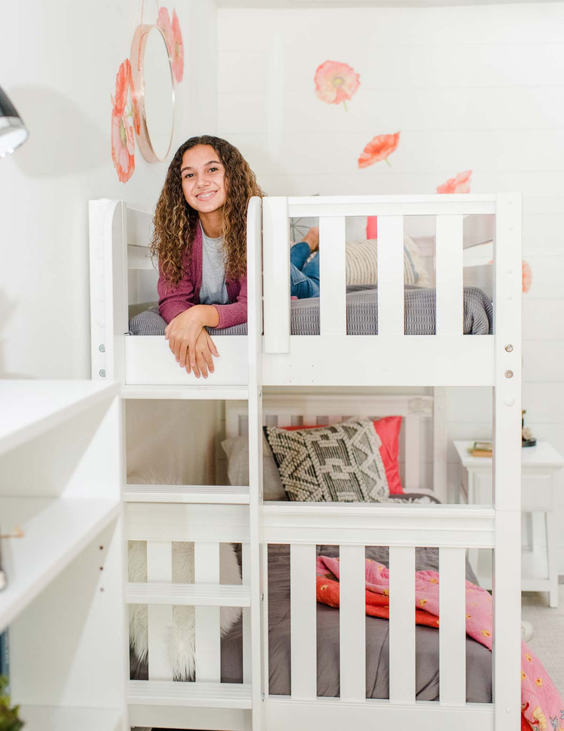 bunk bed with ladder on end tween room