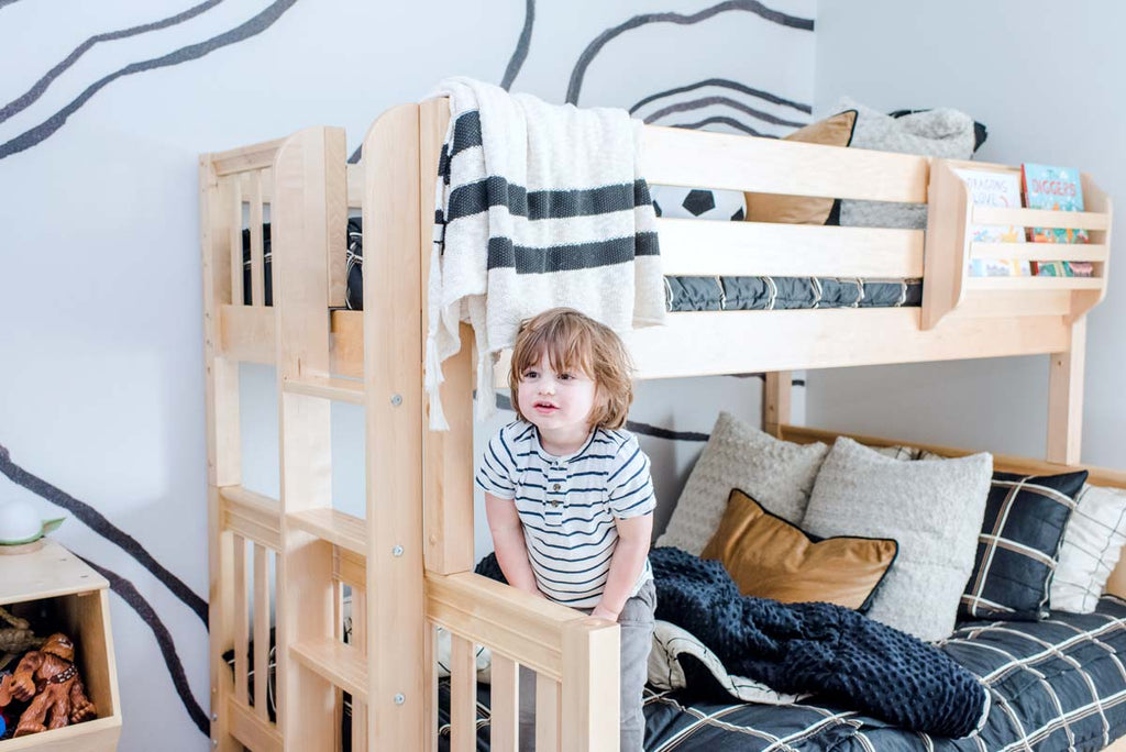 young boy bunk bed