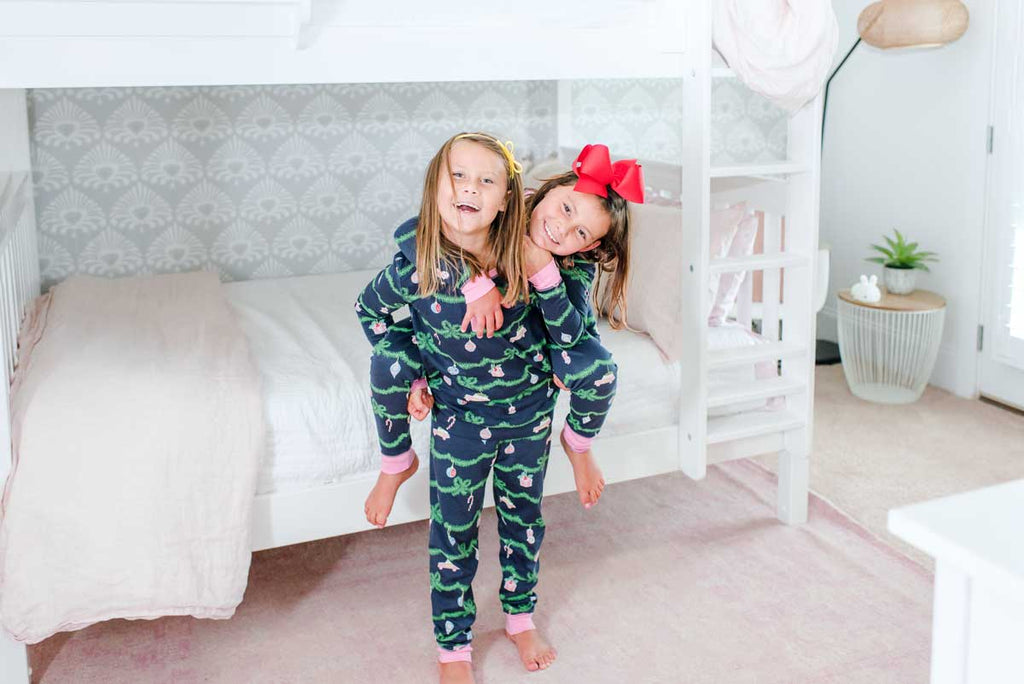 girls on queen size bunks