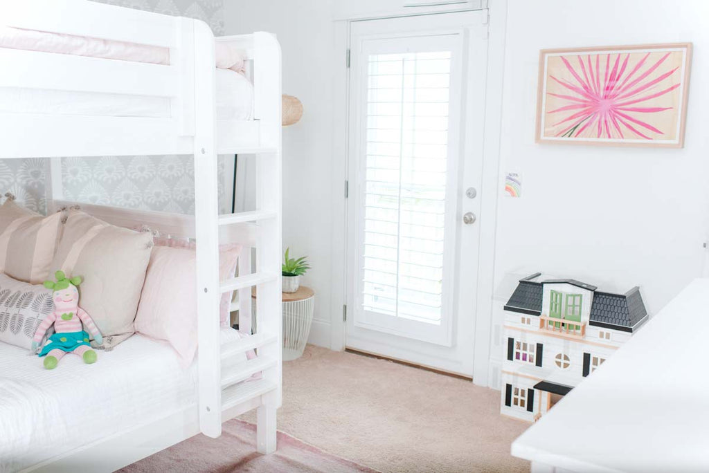 bunk bed design for small room with french doors