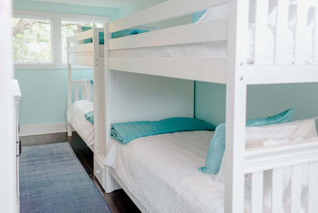 quad bunk bed with stairs twin xl size