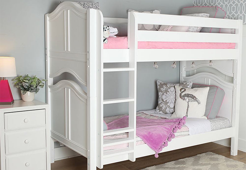 medium high bunk beds for short ceilings in kids rooms