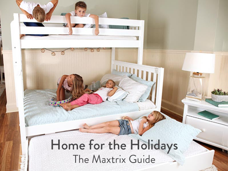 holiday guest accommodations larger beds for adults and kids