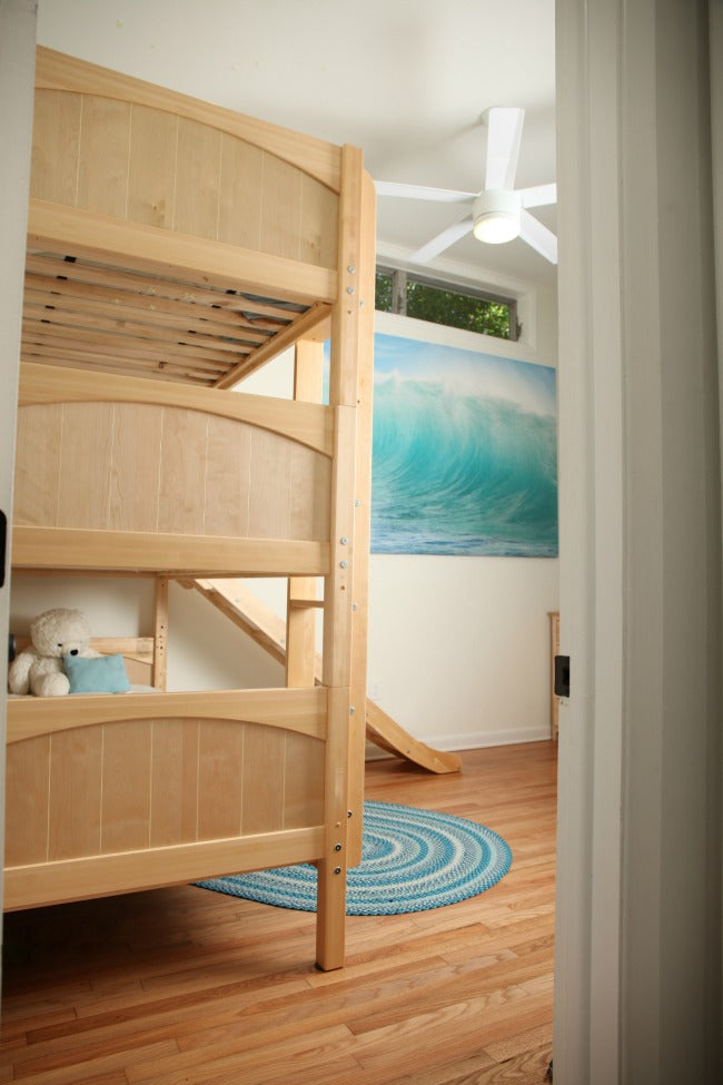 stacked triple bunk bed