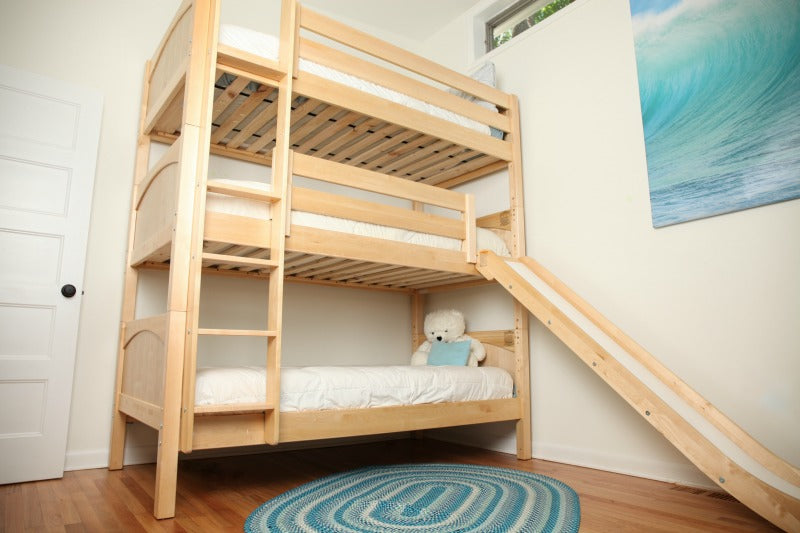triple bunk bed with slide