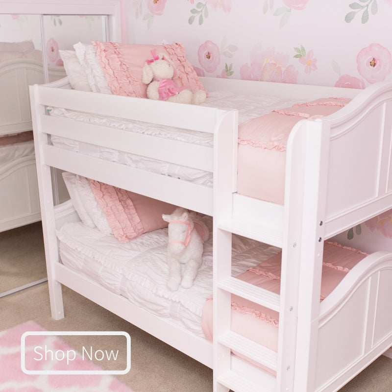 Hot Shot Twin Over Twin Low Bunk Bed with Ladder