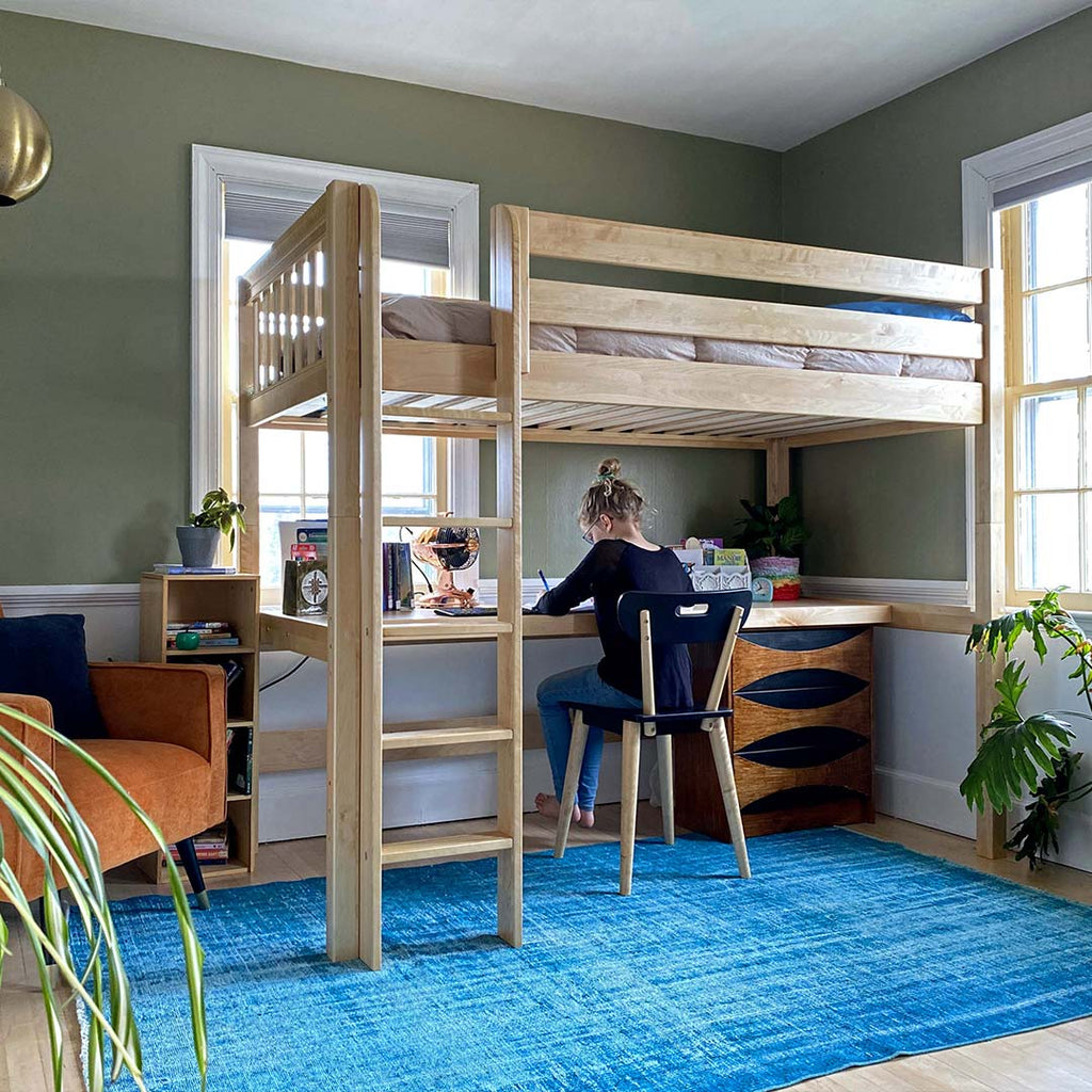 twin xl loft bed with desk