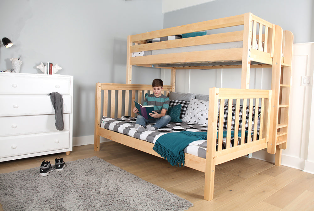 Image result for Make Sleeping Comfortable With Queen Over Queen Bunk Bed