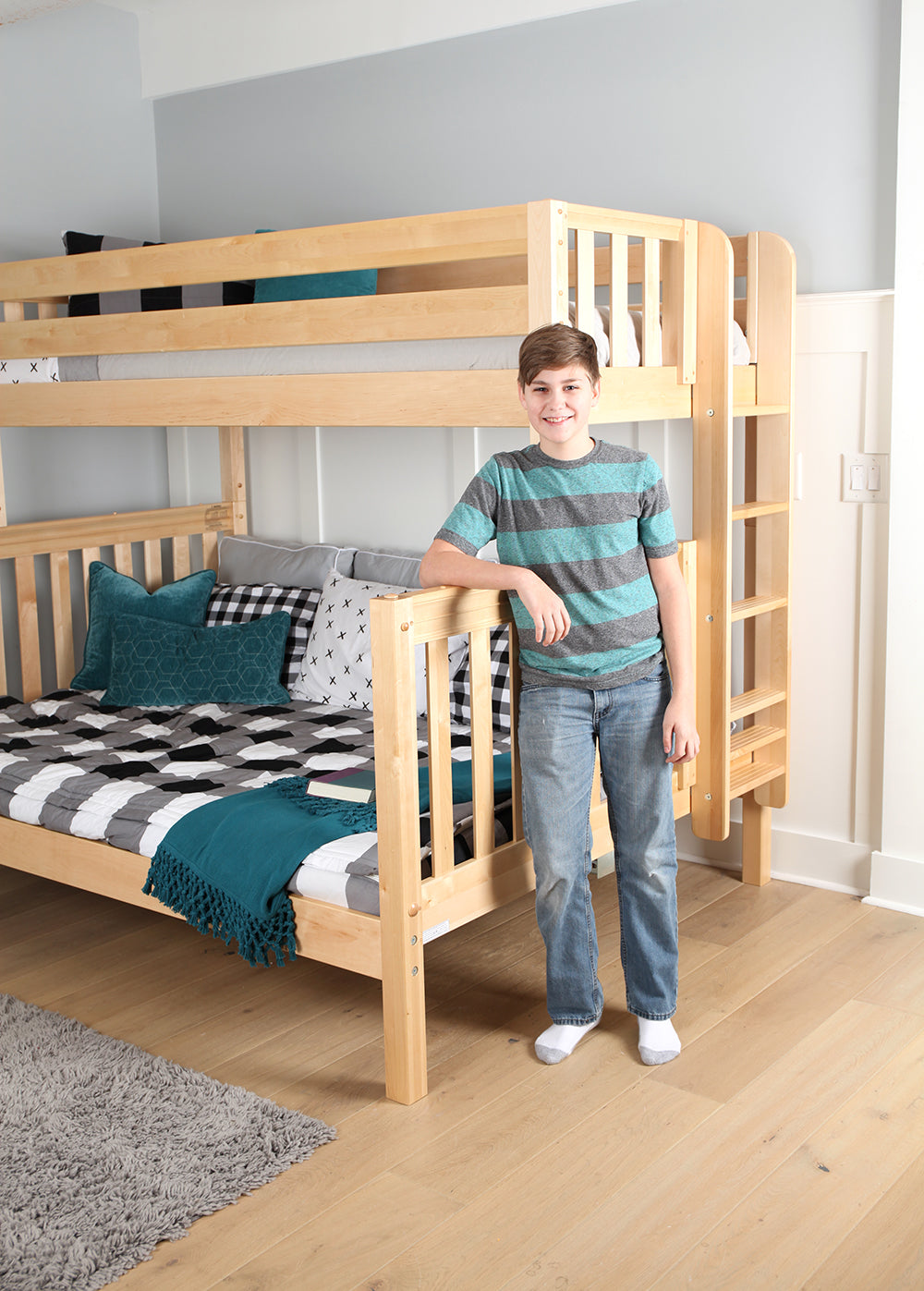 Picture of: New Twin Over Queen Bunk Beds For The Whole Family Maxtrix Kids