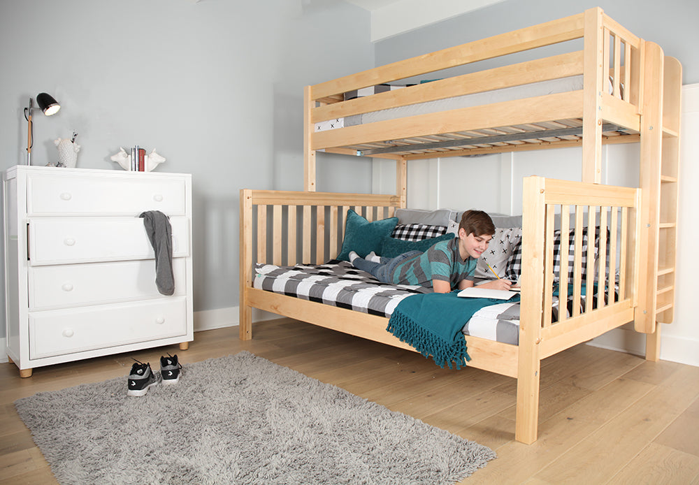 high twin xl over queen bunk bed
