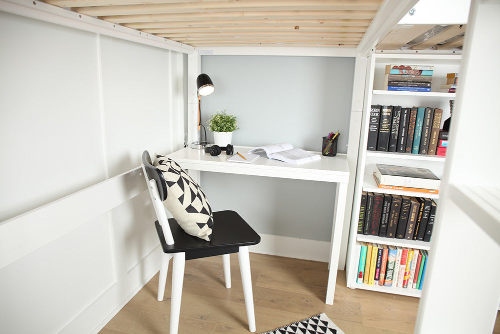 corner desk for study loft bed