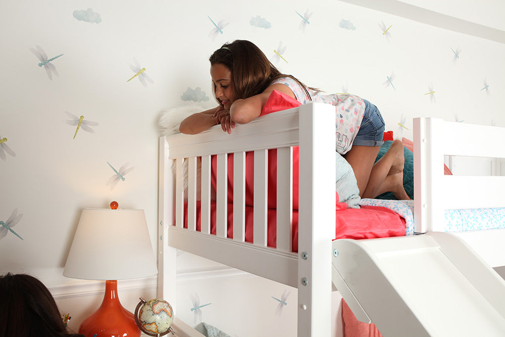 safe bunk bed with slide