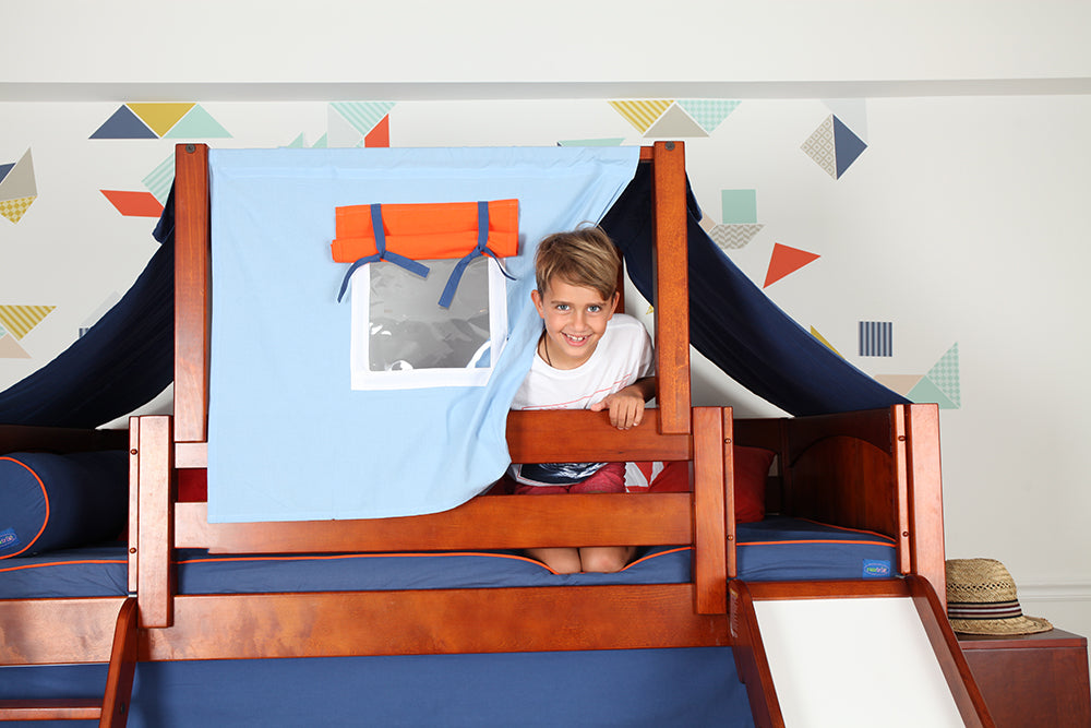 top tent for mid loft bed with slide