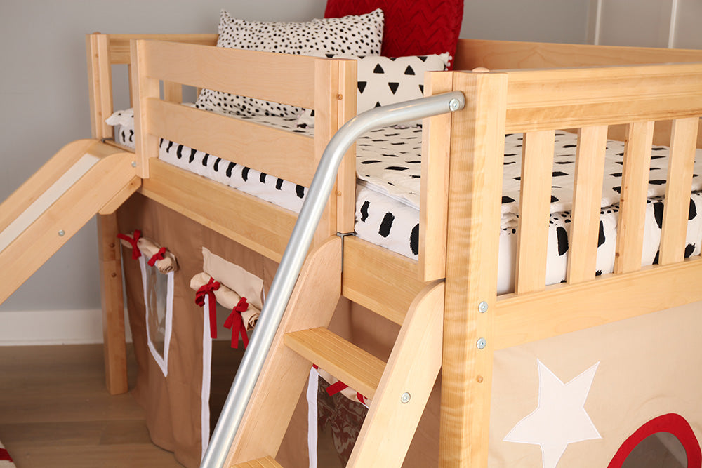 low loft beds for short ceilings in kids rooms