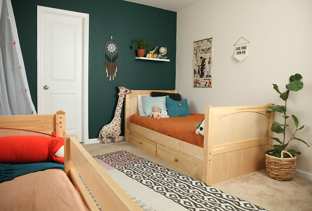 shared toddler room girls room and boys room