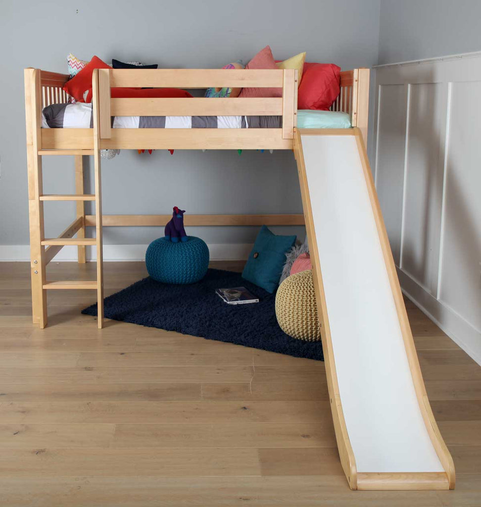 best mid loft bed with slide