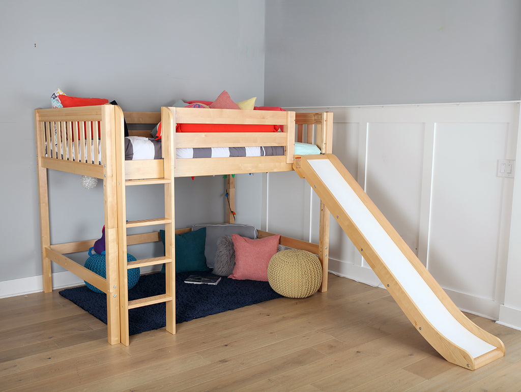 Picture of: Boys Medium Loft Bed With Slide The Perfect Design For Older Kids Maxtrix Kids
