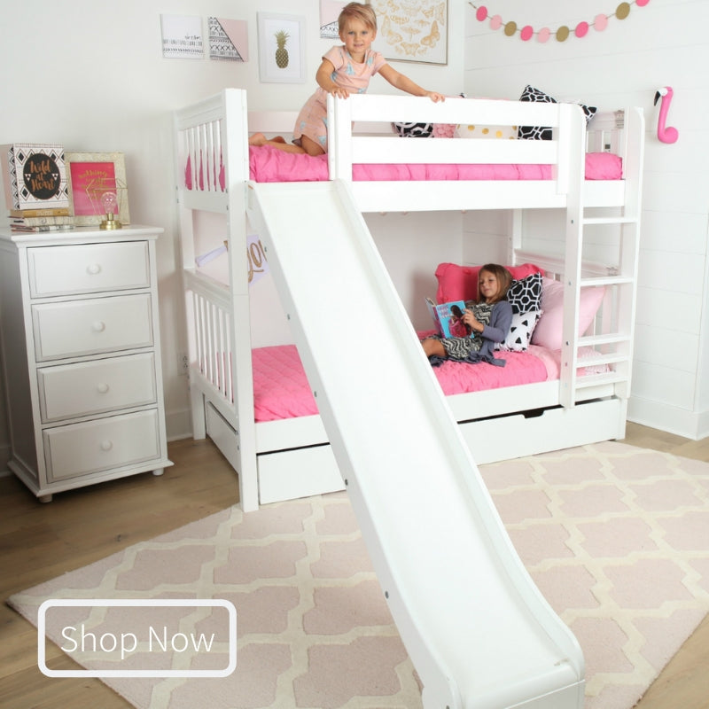 Twin Medium Bunk Bed with Slide