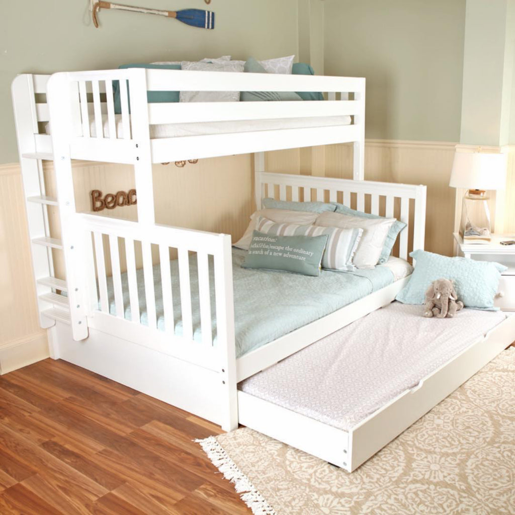 white twin xl over queen bunk beds