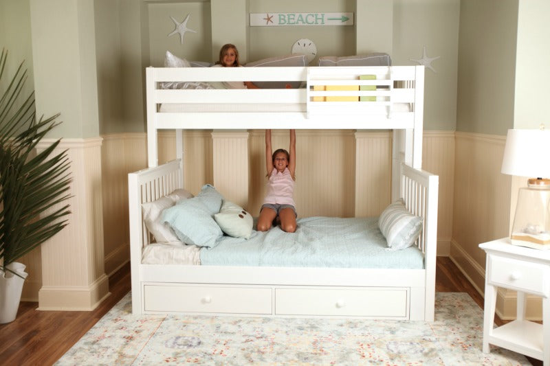 twin over queen bunk beds