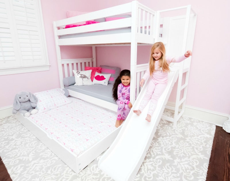 bunk bed with slide platform