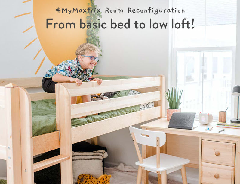 basic bed to low loft configuration